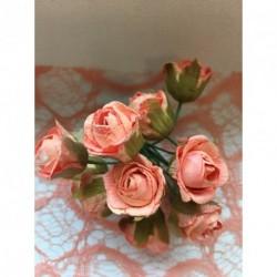 Roses sur Tige Pêche (x12)