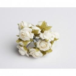 Roses sur Tige Blanche (x12)